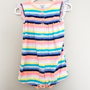 Carter's Striped Butterfly Bottom One Piece 18 MO